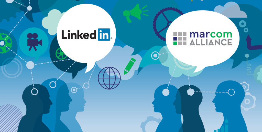 Graphic for LinkedIn event with MarCom Alliance