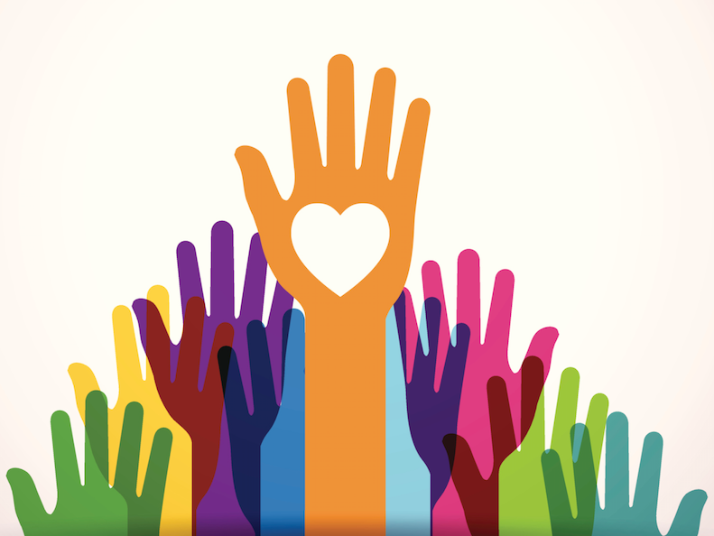 Nonprofit marketing heart hands image